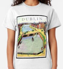 Dublin, capitol, areal view Classic T-Shirt