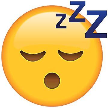 Sleep Emoji Bed Cover Yellow by Trecentos