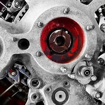 """Gears"" - Packard 9-Cylinder Diesel Radial Airplane Engine by RustedStudio"