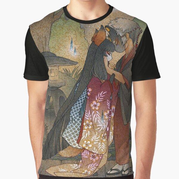 Okina and Shiro - Kitsune Yokai TeaKitsune Graphic T-Shirt