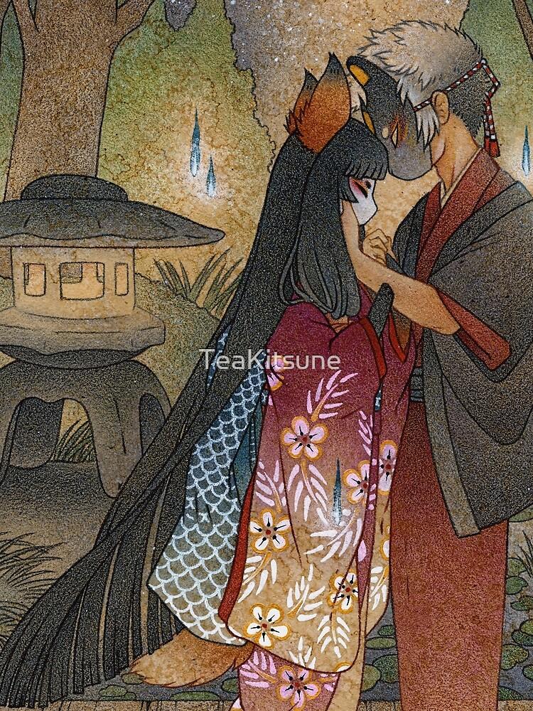 Okina and Shiro - Kitsune Fox Yokai by TeaKitsune