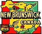 Province of New Brunswick Vintage Travel Decal by hilda74
