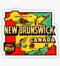 Province of New Brunswick Vintage Travel Decal Sticker