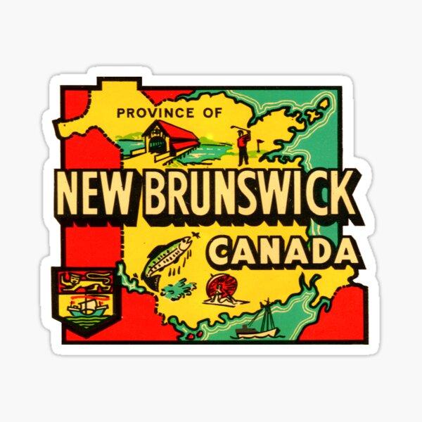 Province of New Brunswick Vintage Travel Decal Sticker