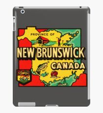 Province of New Brunswick Vintage Travel Decal iPad Case/Skin