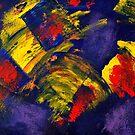 Farbenfohes Acrylbild abstrakt von germanX