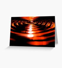 curled heat Greeting Card