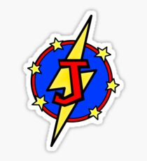 Cute Little SuperHero Geek - Super Letter J Sticker