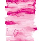 Pink Tie Dye Watercolour T Shirt by Fangpunk