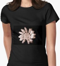 White Toothbrushes seen from above Women's Fitted T-Shirt