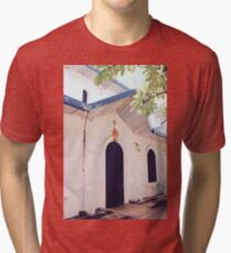 Sacred Heart Cathedral II - Vientiane, Laos Tri-blend T-Shirt