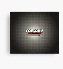 Calgary, Alberta | Retro Stripes Canvas Print