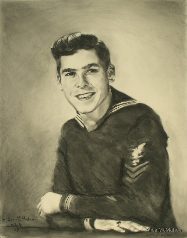 My Dad, WWII U.S. Navy  by Alice McMahon