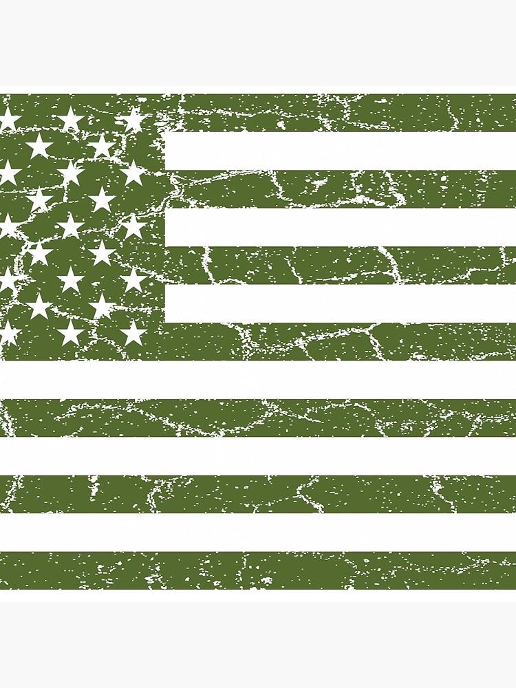 Olive Green American Flag by joehx