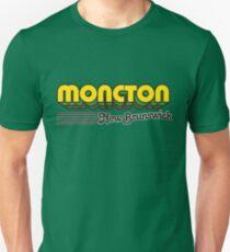 Moncton, New Brunswick | Retro Stripes Unisex T-Shirt