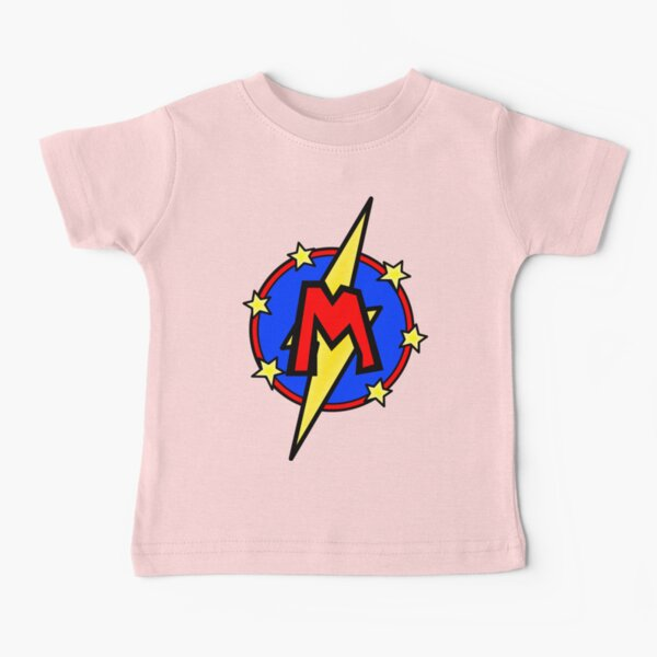 Cute Little SuperHero Geek - Super Letter M Baby T-Shirt