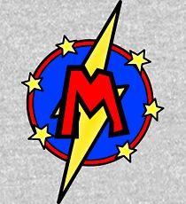 Cute Little SuperHero Geek - Super Letter M Kids Pullover Hoodie