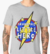 Grandma's Cute Little SuperHero Geek Men's Premium T-Shirt