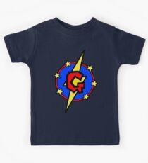 My Cute Little SuperHero Geek - Letter G Kids Tee