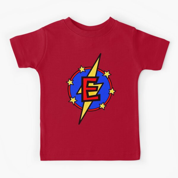 Cute Little SuperHero - Super Letter E Kids T-Shirt