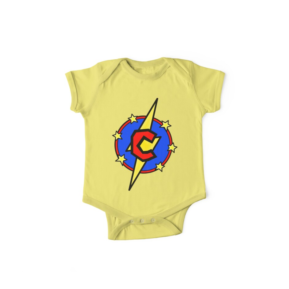 Cute Little SuperHero Geek - Super Letter C by Nathan Fisher