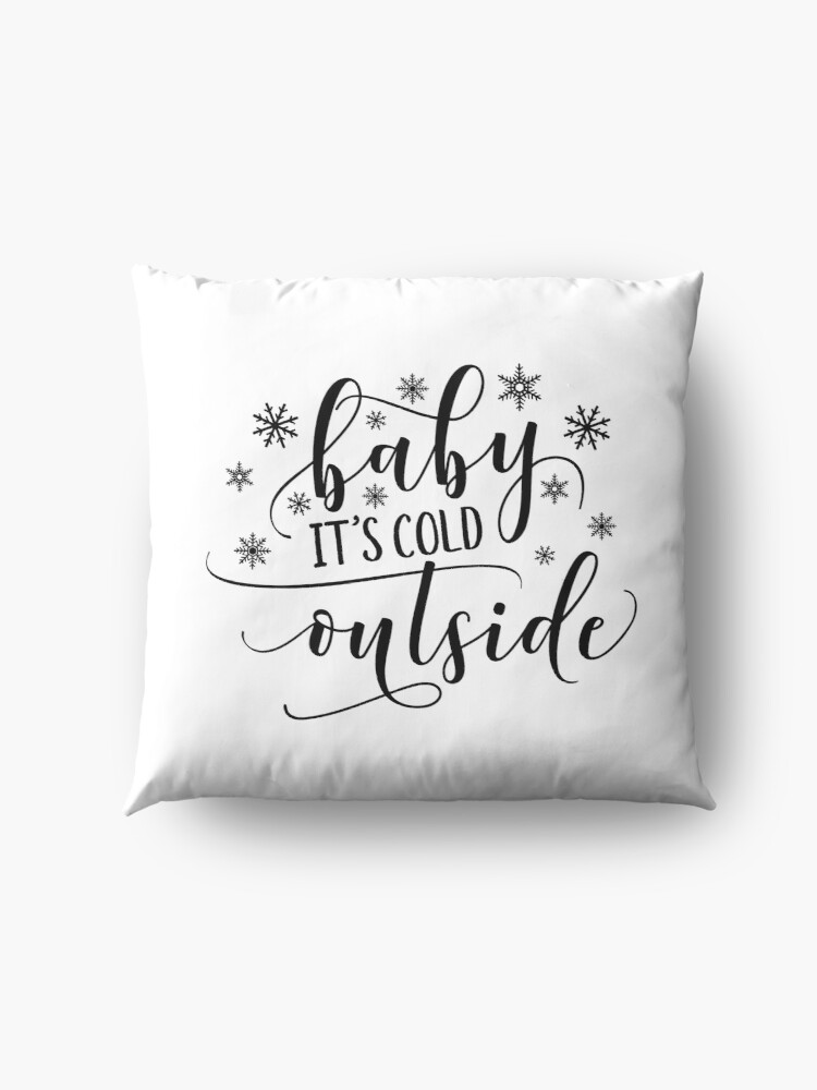 Alternate view of Baby It's Cold Outside Floor Pillow