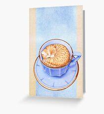 Cat in Coffee Greeting Card