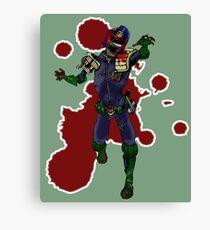Zombie Dredd Canvas Print
