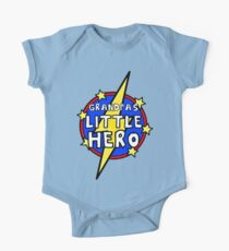 Grandpa's Cute Little SuperHero Geek One Piece - Short Sleeve