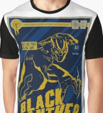 The Black Panther Comic Book Design Graphic T-Shirt