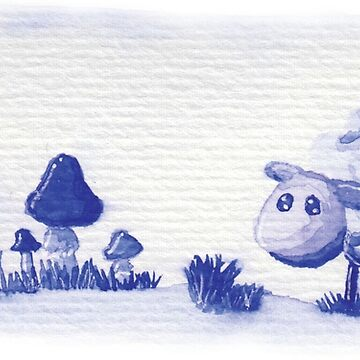 Blue watercolor sheep by steenseltjuhx