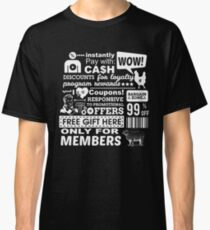 Funny Sales Discount Infographics  Classic T-Shirt
