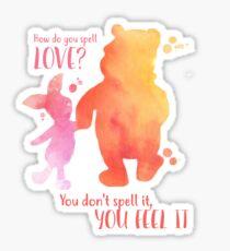 How do you spell love?  Sticker
