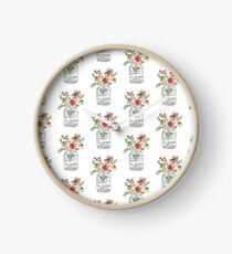 Flower Quote Clock