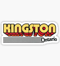 Kingston, Ontario | Retro Stripes Sticker