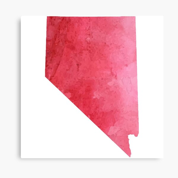 Red Watercolor Nevada Canvas Print