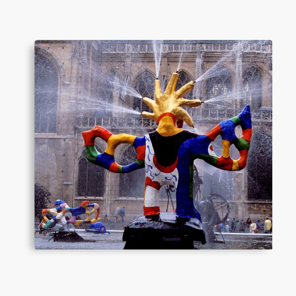 Fontaine Stravinsky, Paris Canvas Print