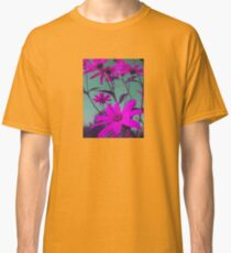 Purple Flowers with Green Sky T-Shirt Classic T-Shirt