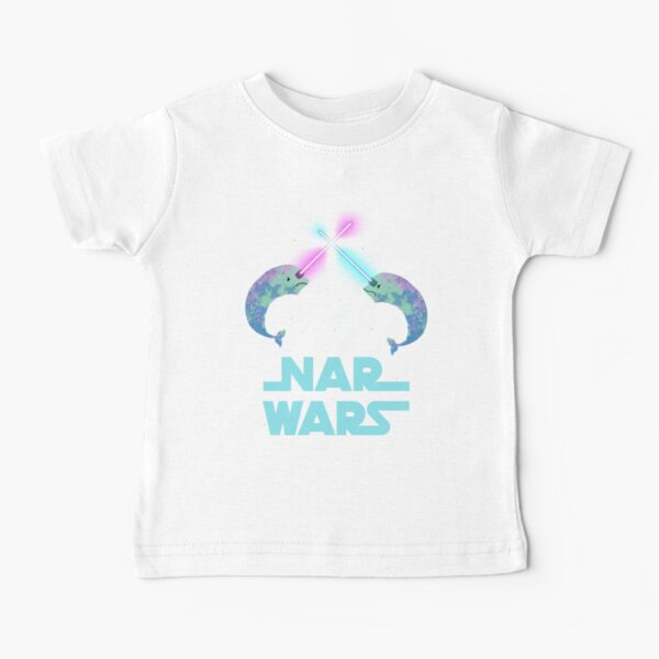 Nar Wars Narwhal Space Star Saber Light Parody (Unicorn of the Sea) Baby T-Shirt