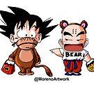 Kid Goku & Krillin Halloween by Moreno Artwork