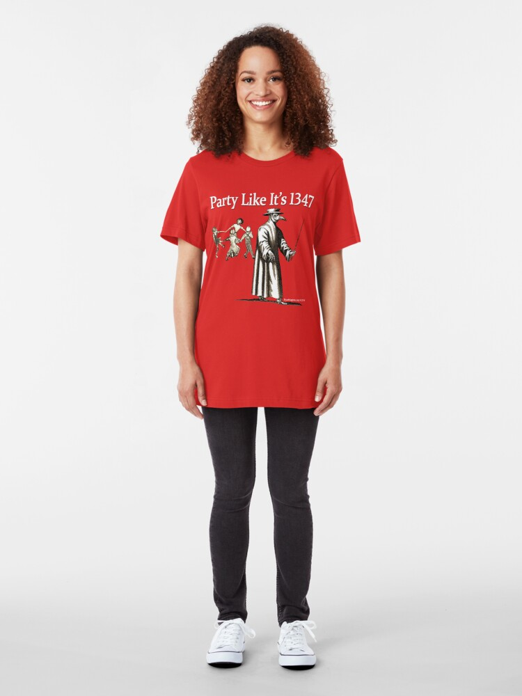 Alternate view of Party Like It's 1347 Slim Fit T-Shirt