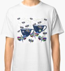 Sunday Tea And Butterflies Tea Cups Classic T-Shirt