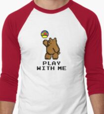 8-Bit Bear - Play with Me Men's Baseball ¾ T-Shirt