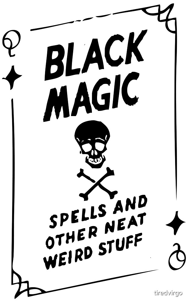 Black Magic Wicca Witch Aesthetic Tarot Art By Tiredvirgo Redbubble