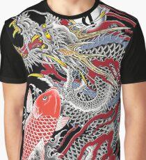 Dragon and Koi Yakuza Graphic T-Shirt