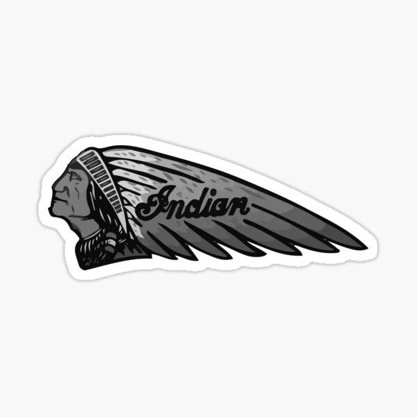 Gris classique de moto indienne Sticker