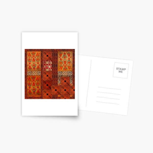 Vintage textile patches Postcard