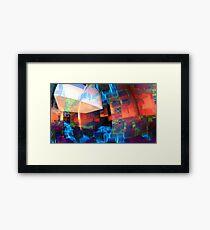 Multi-Block World Framed Print