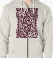 scary woods Zipped Hoodie