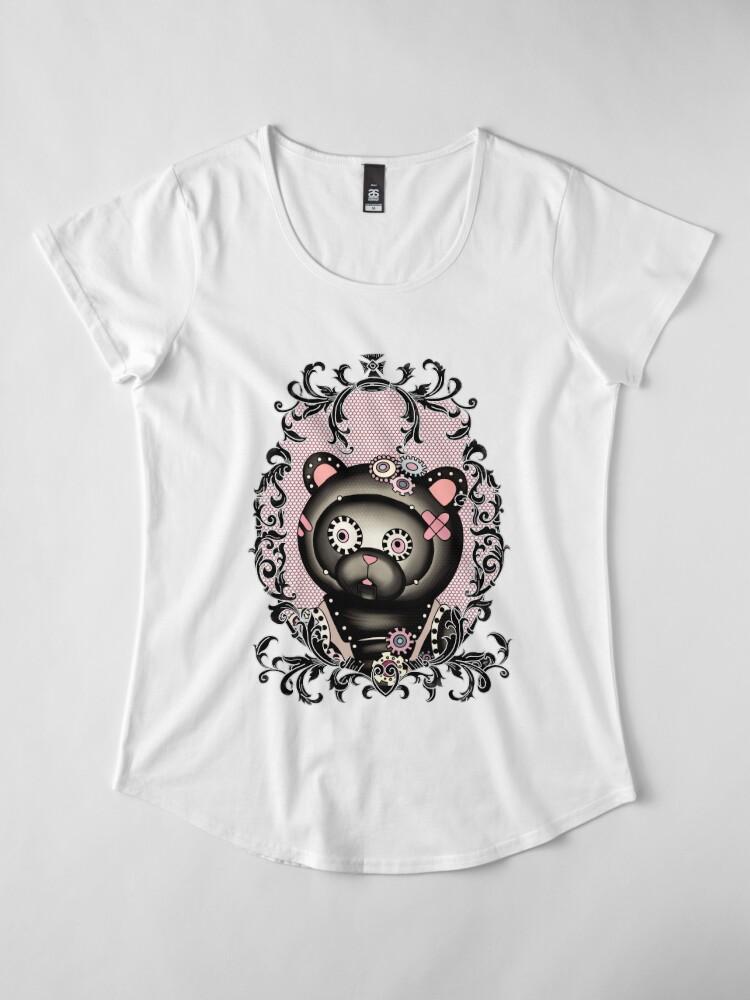 Alternate view of Ornate steampunk teddy Premium Scoop T-Shirt